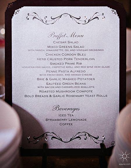 buffet menu cards template best 25 wedding buffet menu ideas on backyard