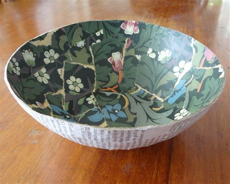 How To Make A Bowl Out Of Paper Mache - saving the past free tutorial with pictures on how to
