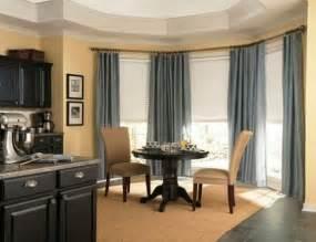 Dining room bay window treatment ideas