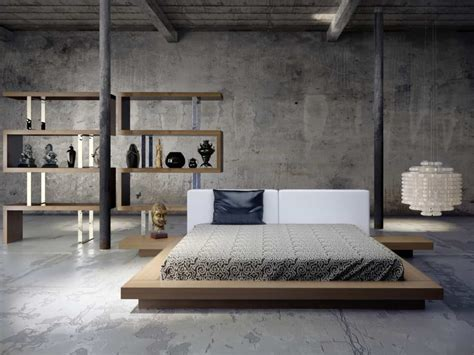 cool  distinctive industrial bedrooms