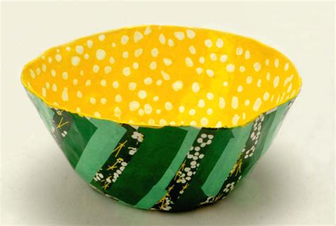 How To Make Paper Mache Bowls - for small papier m 226 ch 233 layered bowls