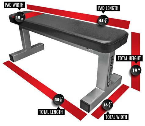 weight lifting bench dimensions utility flat bench legend fitness