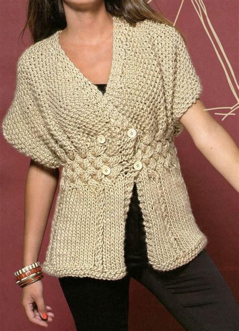 chaleco crochet para mujer abierto con botones paso a paso patrones de tejido gratis chaleco natural