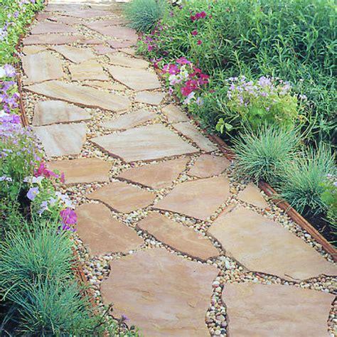 installing a flagstone path sunset