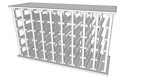 woodwork simple wood wine rack plans  plans