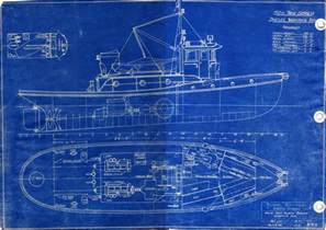 blue prints russel brothers ltd steelcraft winch boat and warping tug