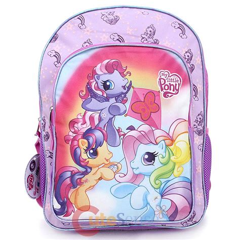 Baby Bag Pony my pony large school backpack 16 quot book bag baby ponies rainbow pinkie
