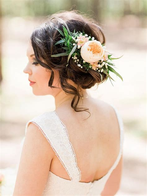 261 best bridal hair flowers images on weddings crowns and wedding hair styles