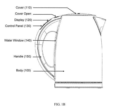draw diagram patent us8405004 intelligent electric kettle