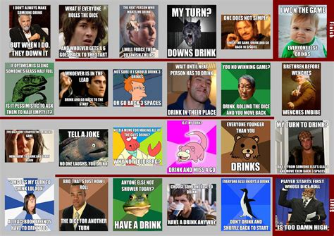 Drinking Game Memes - meme drinking board game