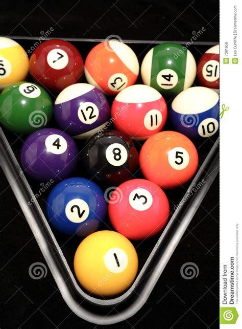 racked pool balls pool balls racked up royalty free stock image image 7381956