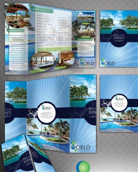 brochure template resort 15 beach resort brochure templates