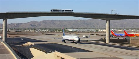 light rail to sky harbor phx sky flies an active taxiway stuck at the
