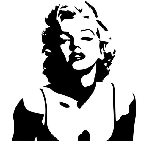 Instan 2 Faces Laser Cutting Qoral svg marilyn silhouette file marilyn eps files