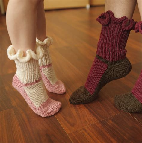 knitted slipper socks slipper socks and boots knitting patterns in the loop