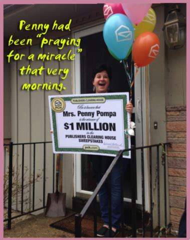 Pch One Million - watch how winning 1 million from pch changed penny s life pch blog