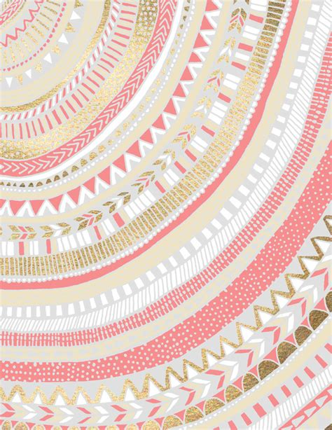 wallpaper tribal gold coral gold tribal canvas print wallpapers patterns