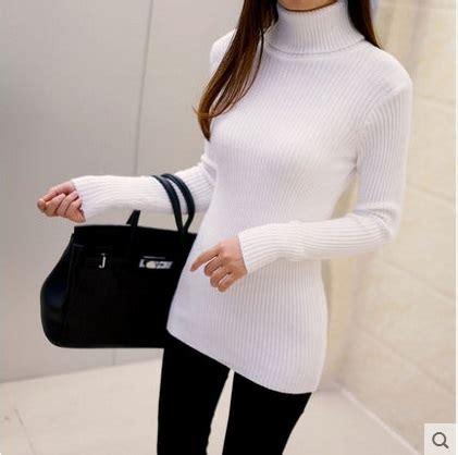 New Sweater Turtleneck Comfy Mocaa Perlengkapan Winter Sweater Get Cheap Oversized Sweaters Aliexpress