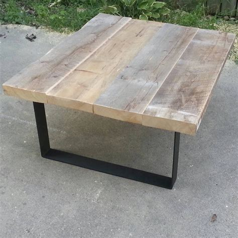 Wood Coffee Table With Metal Legs Reclaimed Wood Coffee Table With Steel Legs By Tablesforasteel