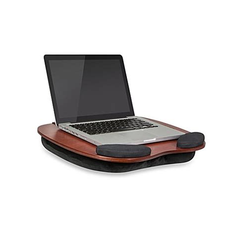 portable lap desk bed bath and beyond the smart media desk wooden lap desk with media slot
