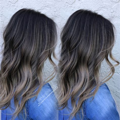 balayage dark brown hair with blonde highlights ash neutral dark brown balayage ombre balayage