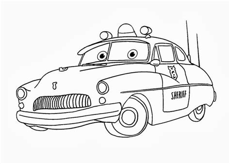 cars sheriff coloring pages free coloring pages and