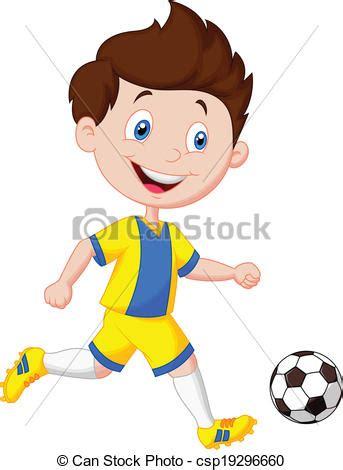 imagenes de niños jugando futbol en caricatura clip art de vectores de ni 241 o f 250 tbol caricatura juego