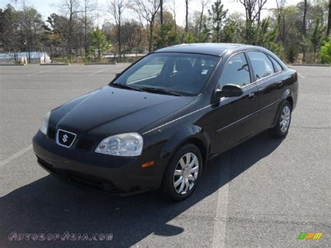 2005 suzuki forenza s sedan in black metallic