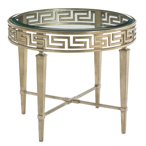 greek key table l greek key end table luxe home company