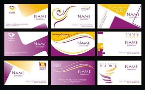 purple business card template free vector 30 821
