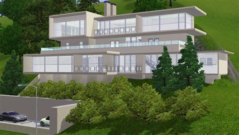 modern hillside house designs small modern hillside house plans