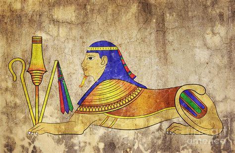 fresco mixed media sphinx mixed media by michal boubin