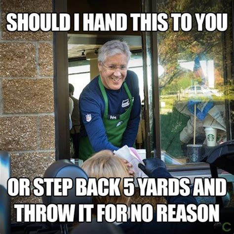 Pete Carroll Memes - pete carroll meme at the drive thru sports unbiased
