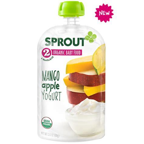 apple yogurt sprout organic mango apple yogurt 99g babyonline