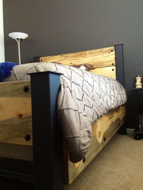 homemade bed homemade bed added man skirts woodover repurposed furniture pinterest beds man