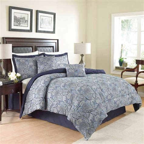better homes and gardens medallion 7 piece comforter bedding set better homes and gardens indigo paisley 7 piece bedding
