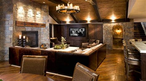 log cabin living room ideas
