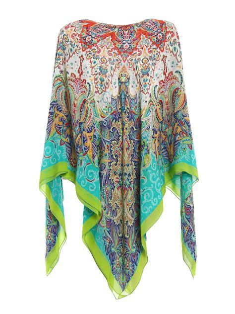 Etro Kaftan etro printed silk chiffon kaftan tunic tunics