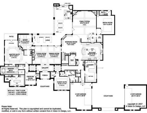 popular luxury mansion floor plans with home plan 134