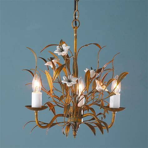 Chandelier Flowers Ceramic Flower Mini Chandelier Chandeliers By Shades Of Light