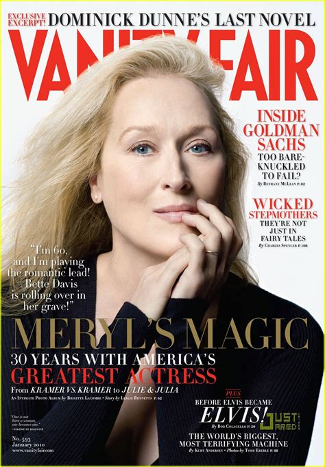 Who Is On The Cover Of Vanity Fair meryl streep covers vanity fair january 2010 photo