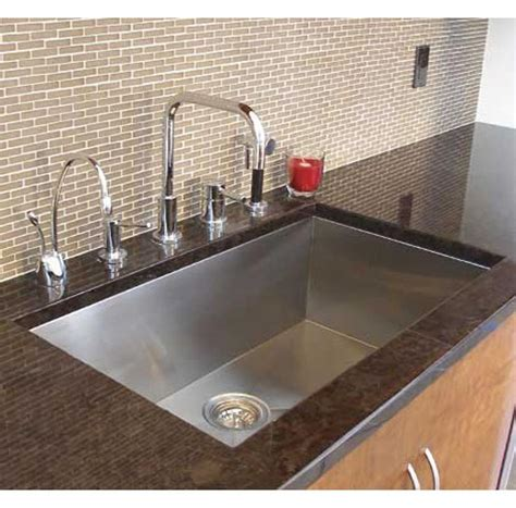 Kitchen Sinks Undermount Single Bowl 36 Inch Stainless Steel Undermount Single Bowl Kitchen Sink Zero Radius Design