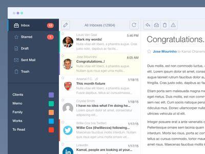 pattern javascript email mail app by kamal chaneman dribbble