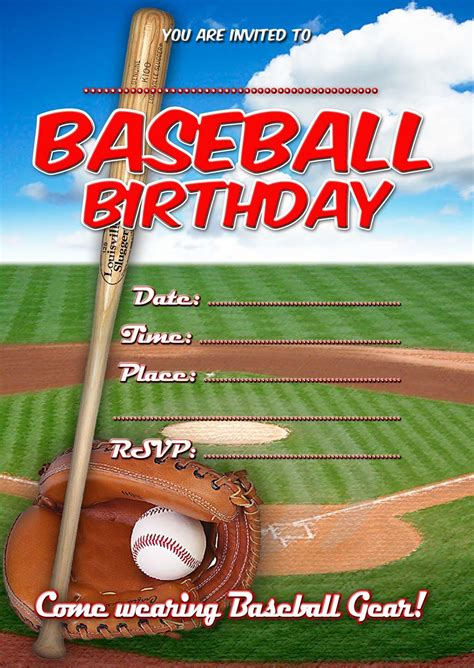 8 Best Images Of Boys Sport Birthday Invitations Free Printable Printable Sports Birthday Baseball Birthday Invitation Templates Free