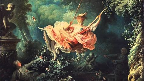 rococo the swing the swing by jean honore fragonard 1767 youtube