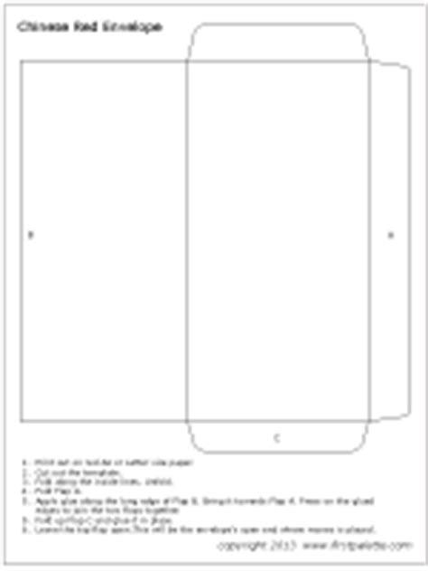 chinese red envelope template printable pinterest