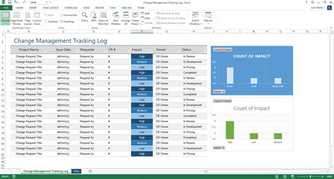 change management log template ms excel software testing