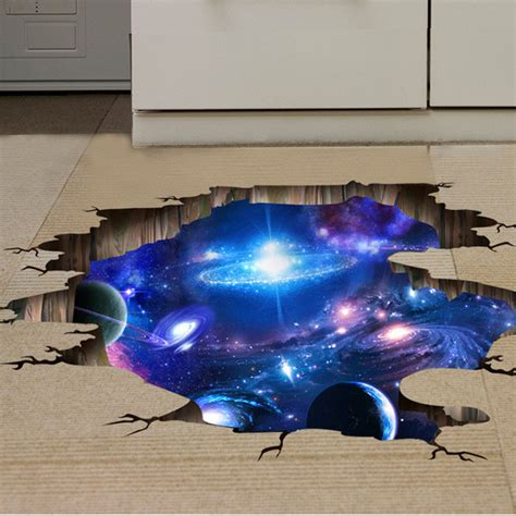 space bedroom stickers 3d outer space wall stickers home decor mural art