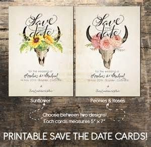 save the date card printable save the date card wedding card printable boho save the date