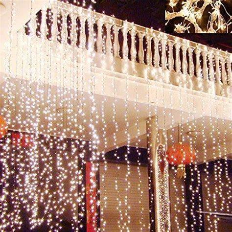 300 led warm white string curtain light hikong 3m 3m 300 led christmas outdoor from amazon